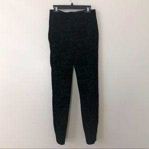 LYSSE thick knit velvet embossed stretch leggings